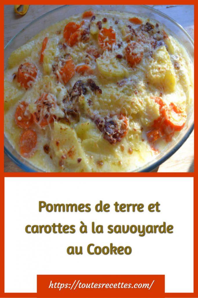 Comment préparer les Pommes de terre et carottes à la savoyarde au Cookeo
