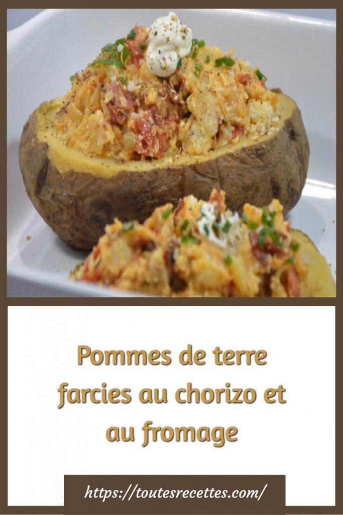 Comment préparer les Pommes de terre farcies au chorizo et au fromage