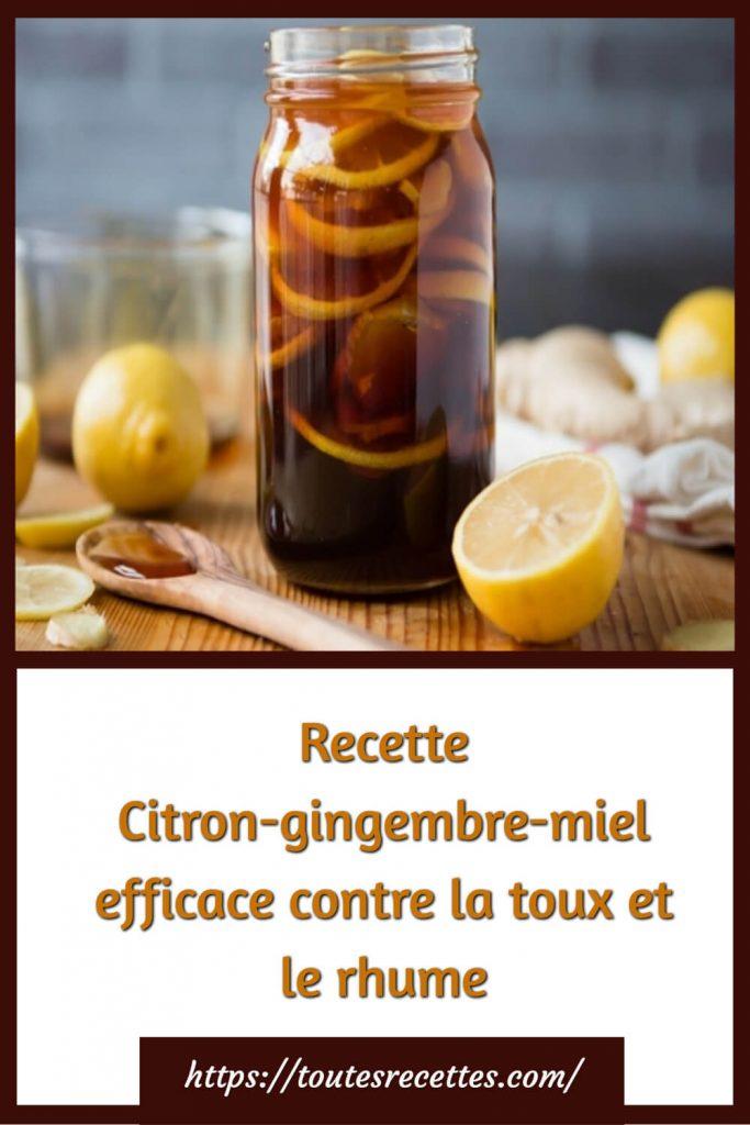 Comment préparer le Citron-gingembre-miel