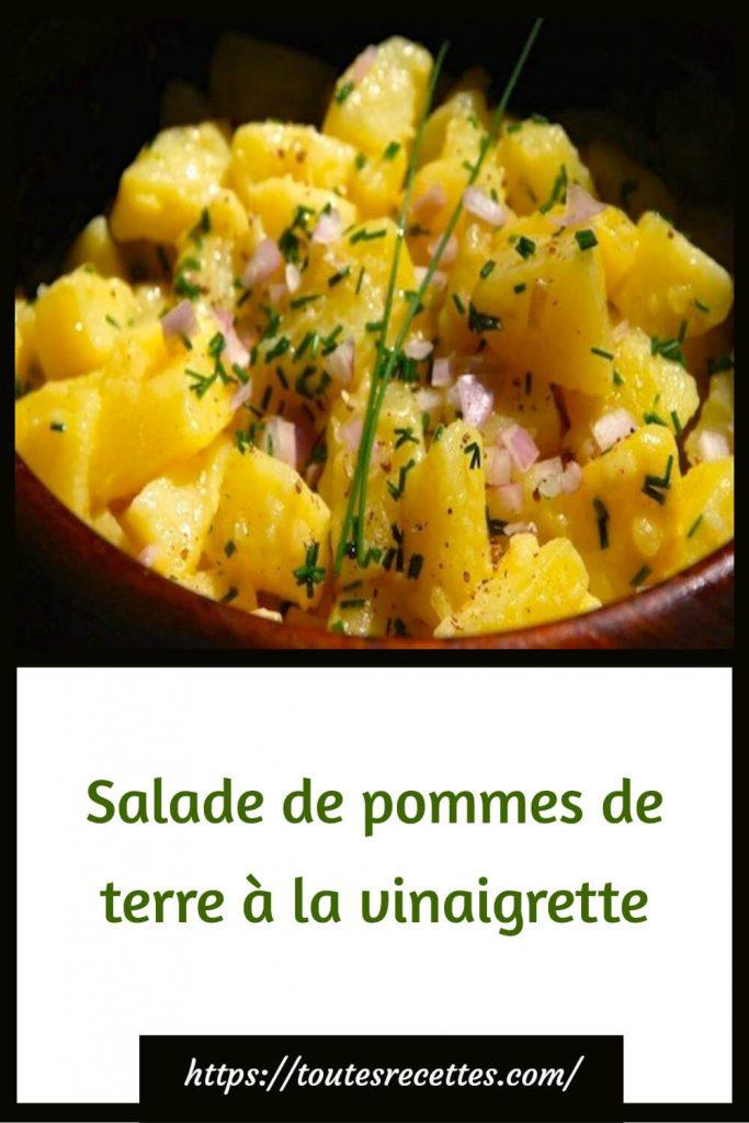 Comment préparer la Salade de pommes de terre à la vinaigrette