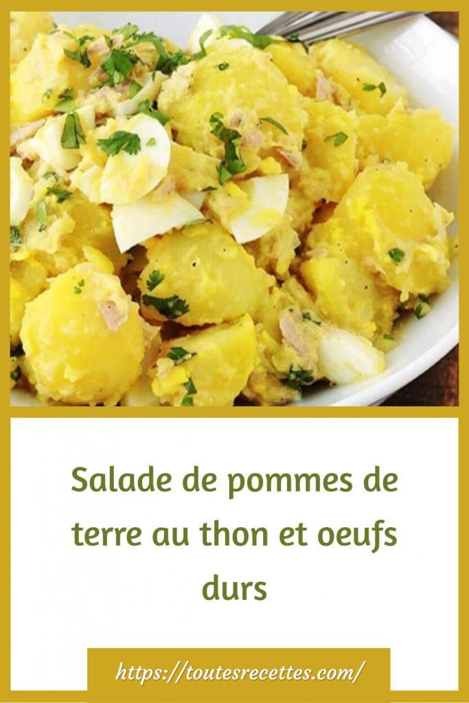 Comment préparer la Salade de pommes de terre au thon et oeufs durs