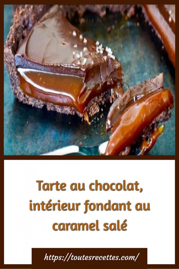 Comment préparer la Tarte au chocolat, intérieur fondant au caramel salé