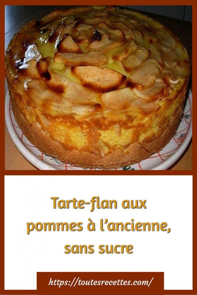 Comment préparer la Tarte-flan aux pommes