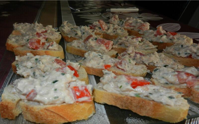 Toasts de rillettes de thon entrée légère