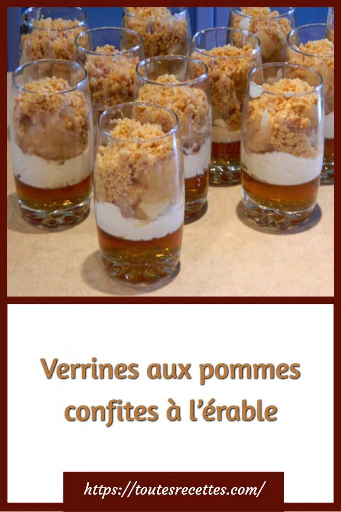Comment préparer les Verrines aux pommes confites à l'érable