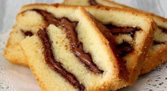 Cake au yaourt à la pâte à tartiner recette facile et rapide
