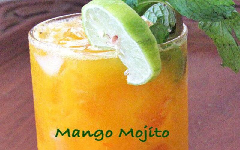 Cocktail Mojito à la mangue (avec ou sans alcool)