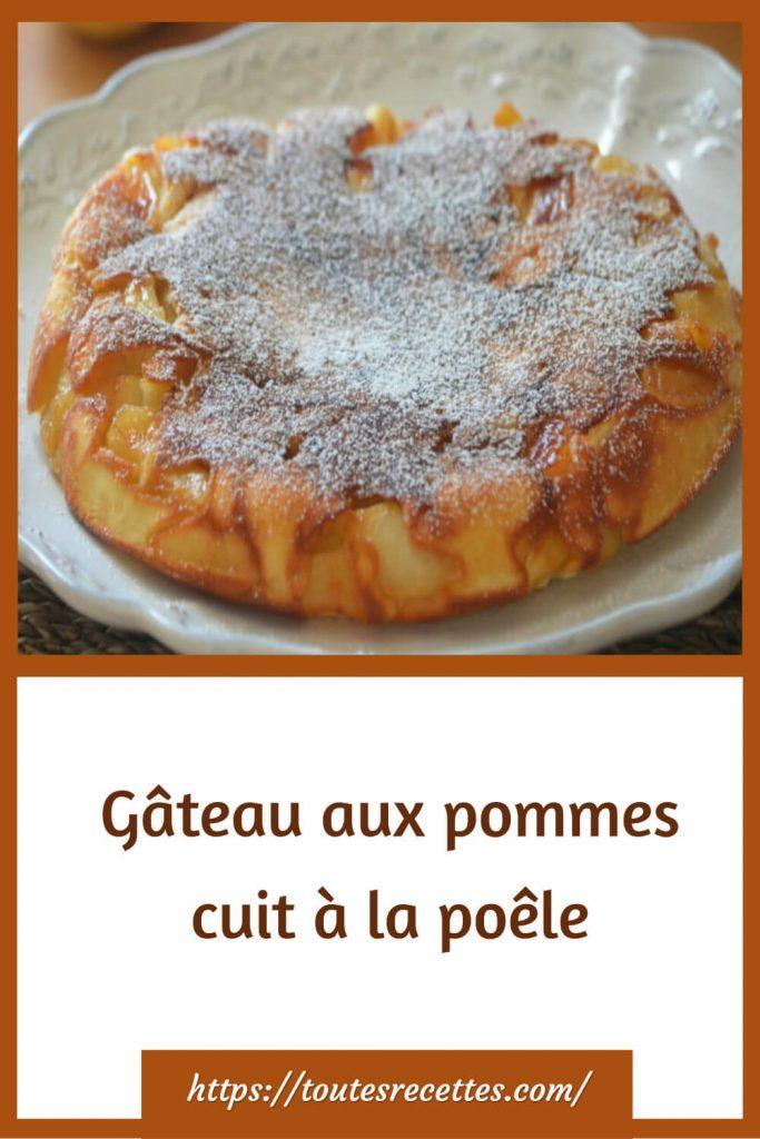 Comment préparer le Gâteau aux pommes cuit à la poêle