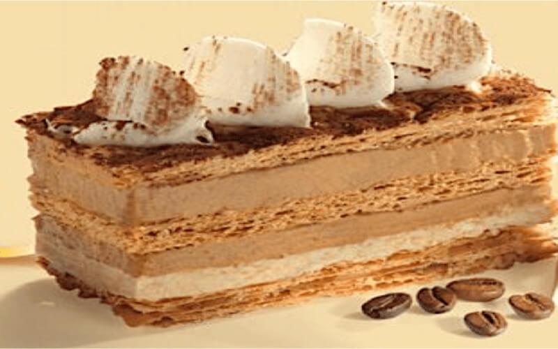 Millefeuille au café dessert original