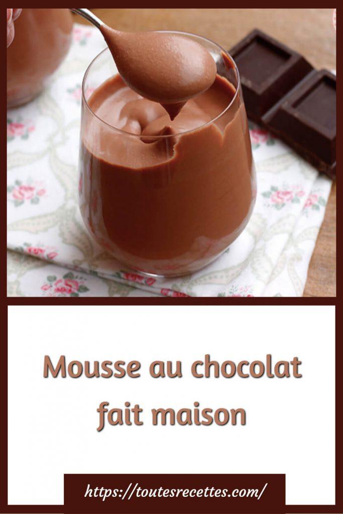 Comment préparer la Mousse au chocolat fait maison
