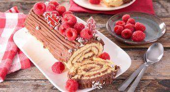 Bûche chocolat framboise parfaite pour les fêtes de Noël