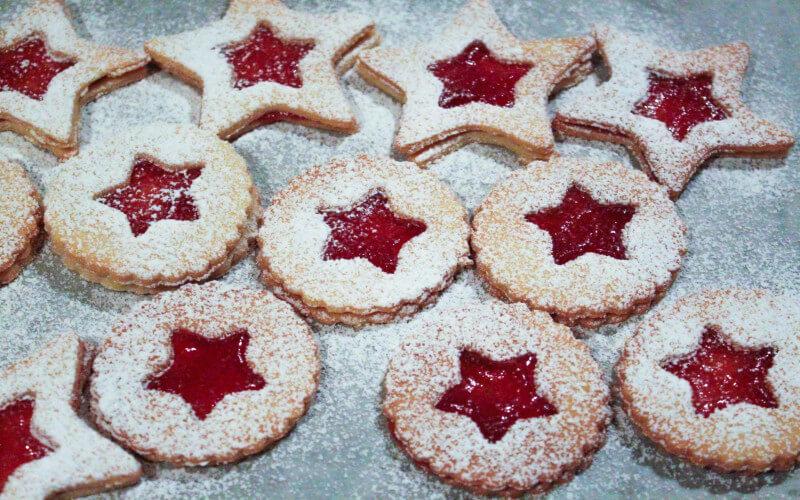 Biscuits Sablés de Noël à la confiture