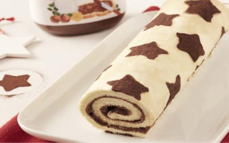 Bûche de noël au Nutella recette Facile à réaliser