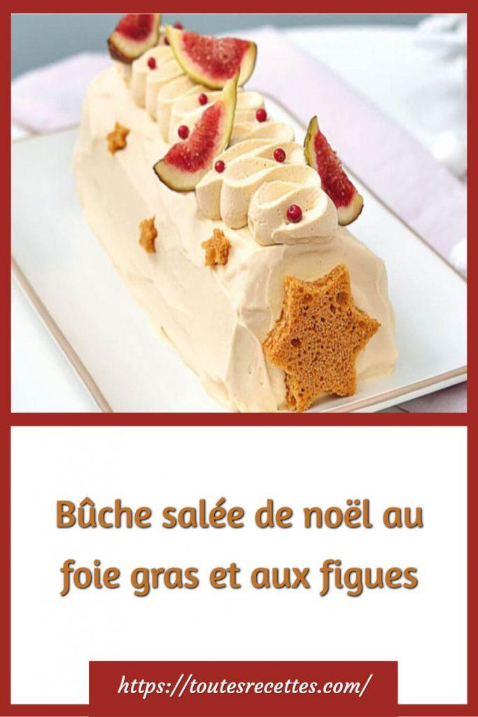 Comment préparer Bûche salée de noël au foie gras et aux figues