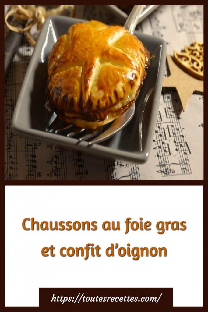 Comment préparer les Chaussons au foie gras et confit d'oignon