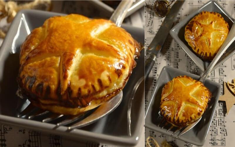 Chaussons au foie gras et confit d'oignon