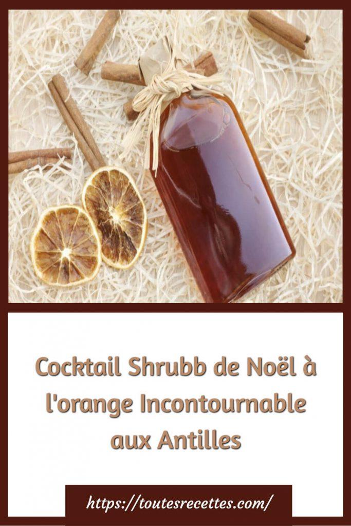 Comment préparer le cocktail Shrubb de Noël à l'orange