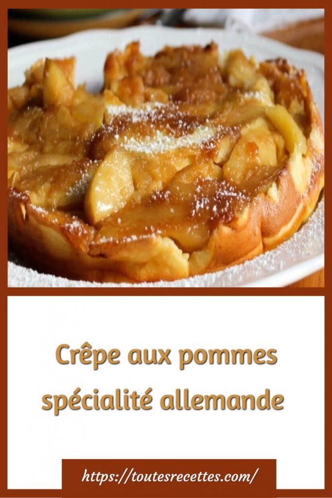 Comment préparer la Crêpe aux pommes allemande
