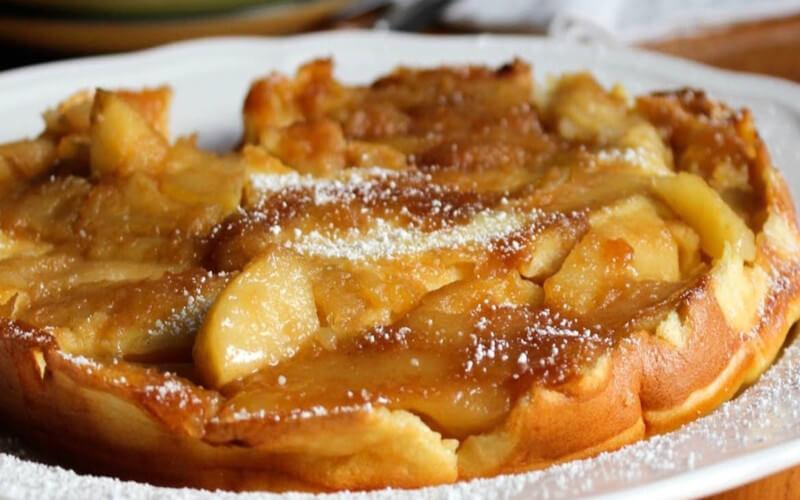 Crêpe aux pommes spécialité allemande