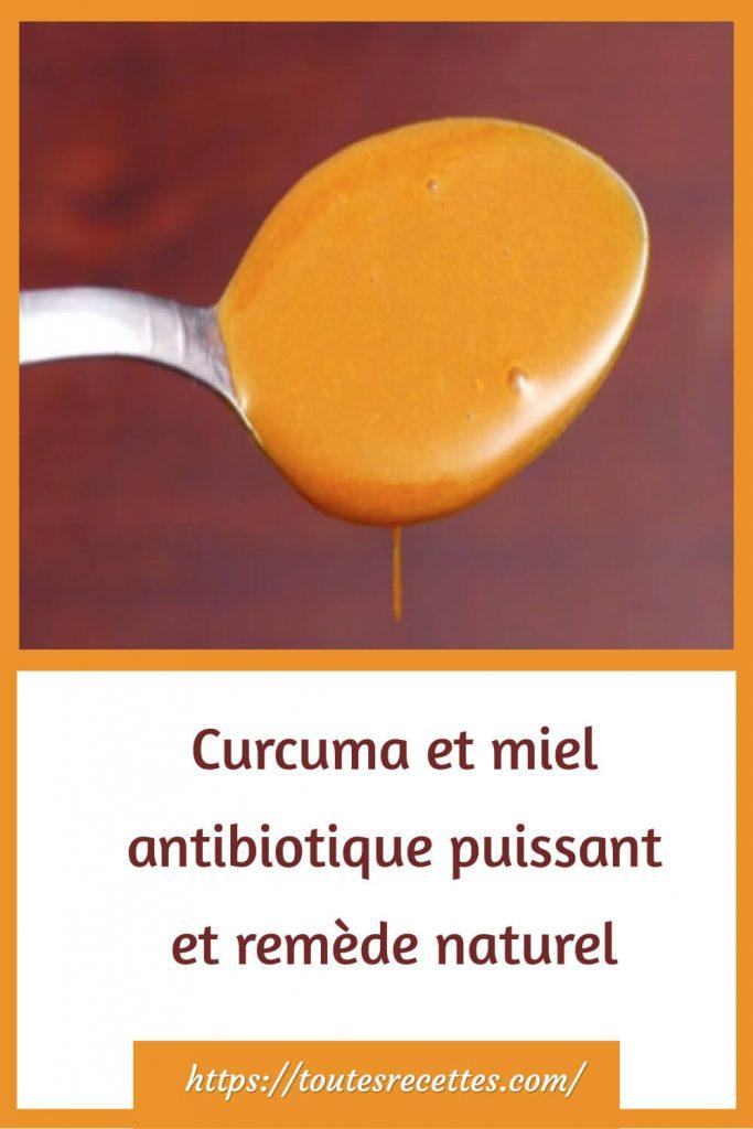 Voici comment le préparer la recette Curcuma et miel