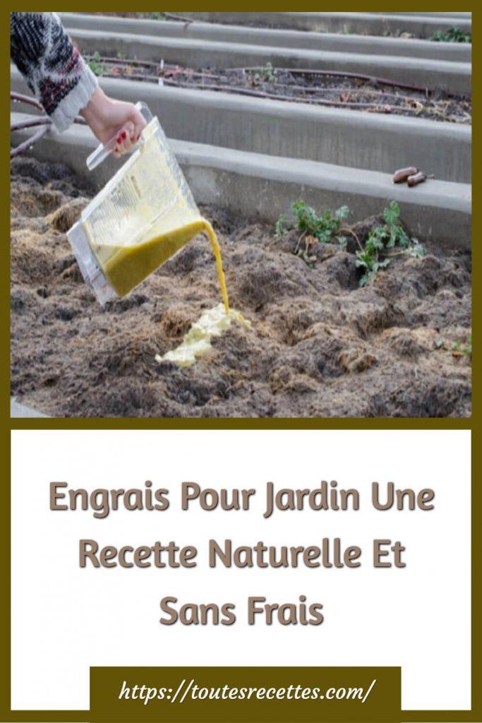 Engrais Pour Jardin Une Recette Naturelle Et Sans Frais