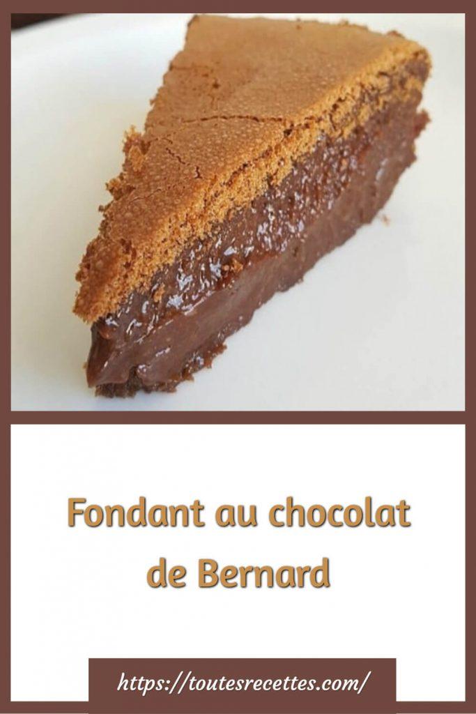 Comment préparer le Fondant au chocolat de Bernard
