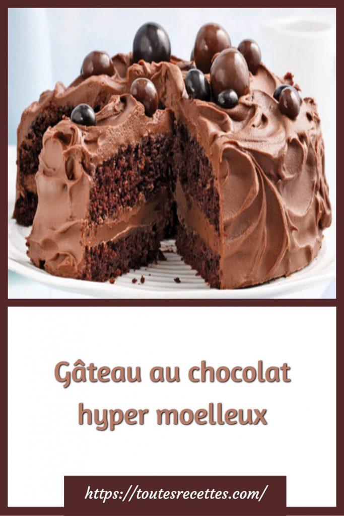 Comment préparer le Gâteau au chocolat hyper moelleux