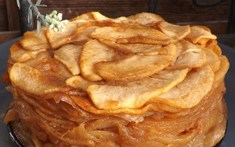 Gâteau aux pommes, sans farine, sans oeufs, sans gras