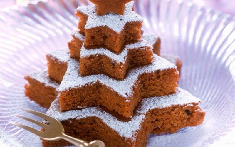 Gâteau étoilé au chocolat et aux noix