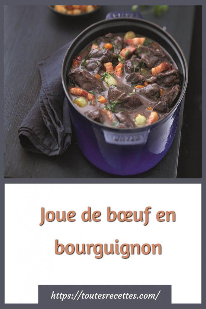 Comment préparer la Joue de bœuf en bourguignon