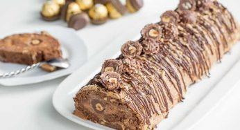 La bûche Ferrero Rocher moelleuse au Thermomix