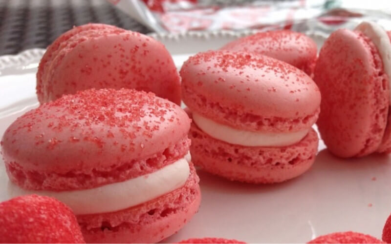 Macarons super fondants à la fraise Tagada