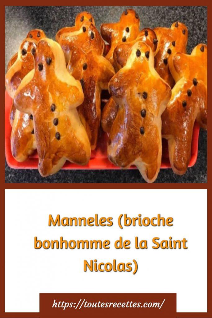 Comment préparer les Manneles (brioche bonhomme de la Saint Nicolas)