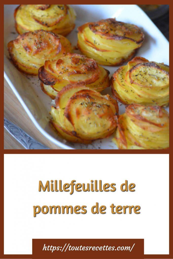 Comment préparer les Millefeuilles de pommes de terre