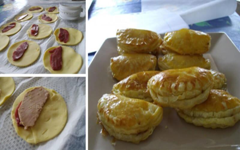 Mini-Chaussons au Foie Gras et Magret de canard