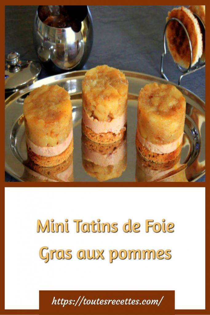 Comment préparer les Mini Tatins de Foie Gras aux pommes