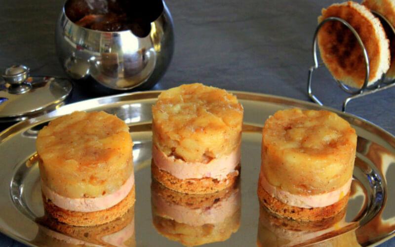 Mini Tatins de Foie Gras aux pommes
