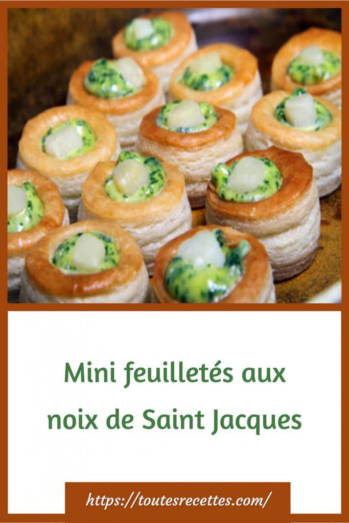Comment préparer les Mini feuilletés aux noix de Saint Jacques
