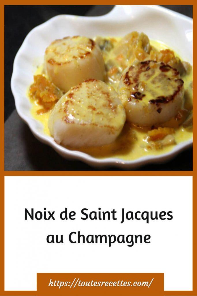 Comment préparer des Noix de Saint Jacques au Champagne