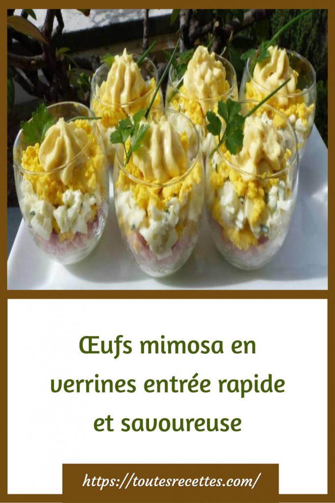 Comment préparer les Œufs mimosa en verrines