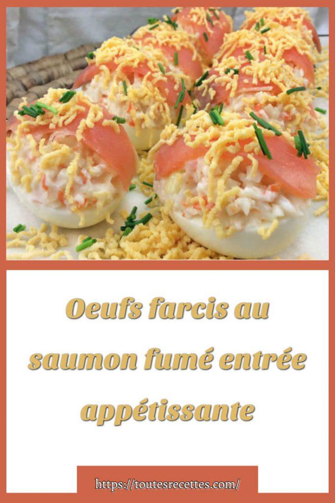 Comment préparer des Oeufs farcis au saumon fumé