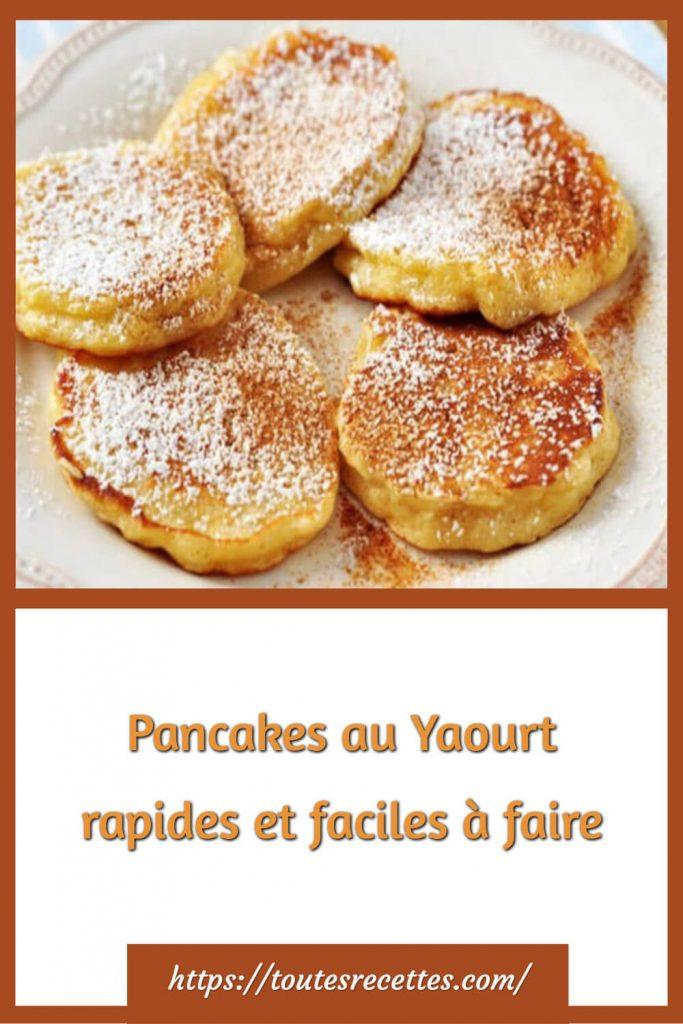 Comment préparer des Pancakes au Yaourt rapides et faciles à faire