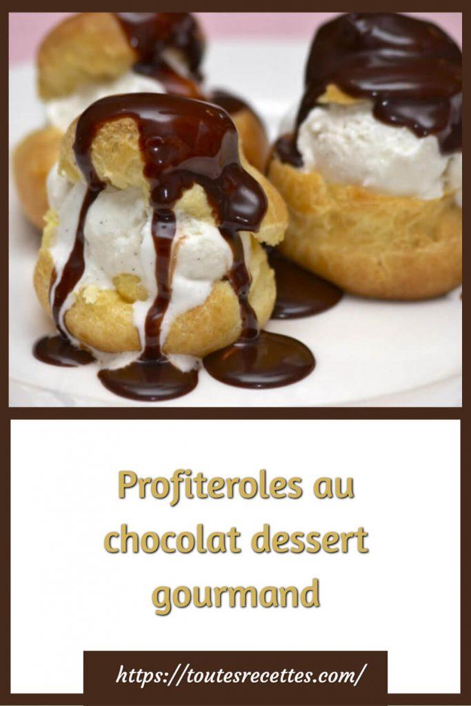 Comment préparer les Profiteroles au chocolat