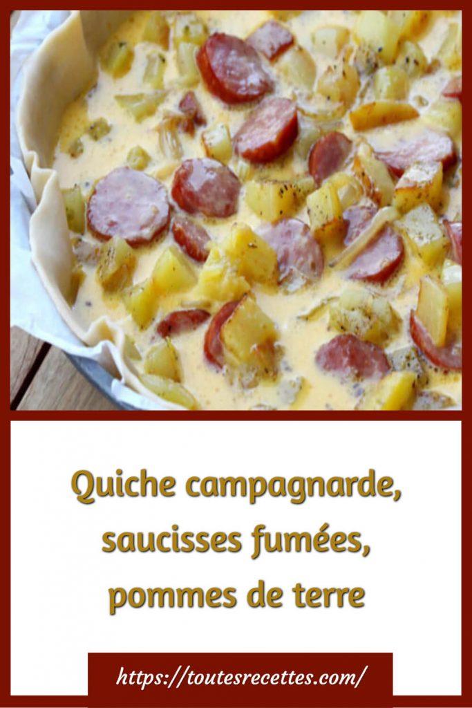Comment préparer la Quiche campagnarde, saucisses fumées, pommes de terre
