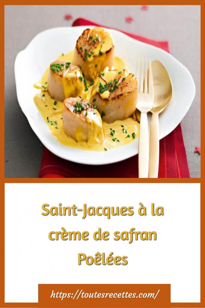 Comment préparer des Saint-Jacques à la crème de safran Poêlées