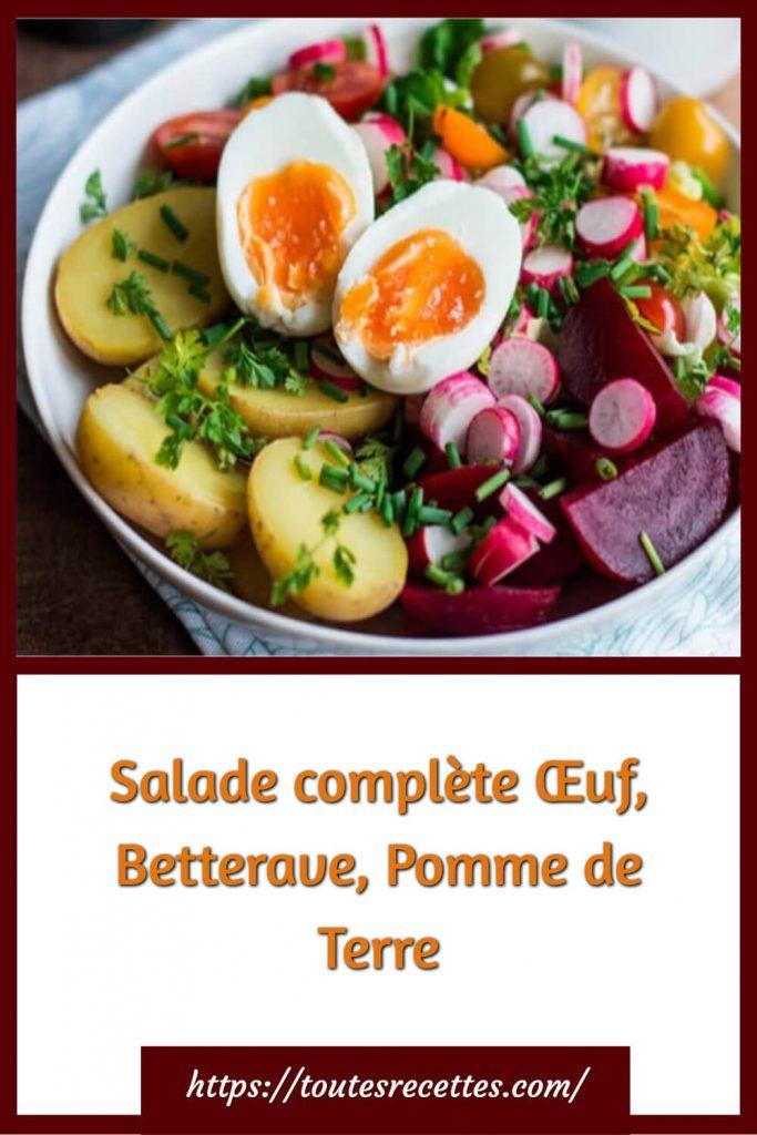 Comment préparer la Salade complète Œuf, Betterave, Pomme de Terre