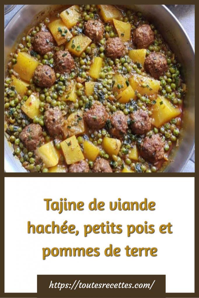 Comment préparer le Tajine de viande hachée, petits pois et pommes de terre