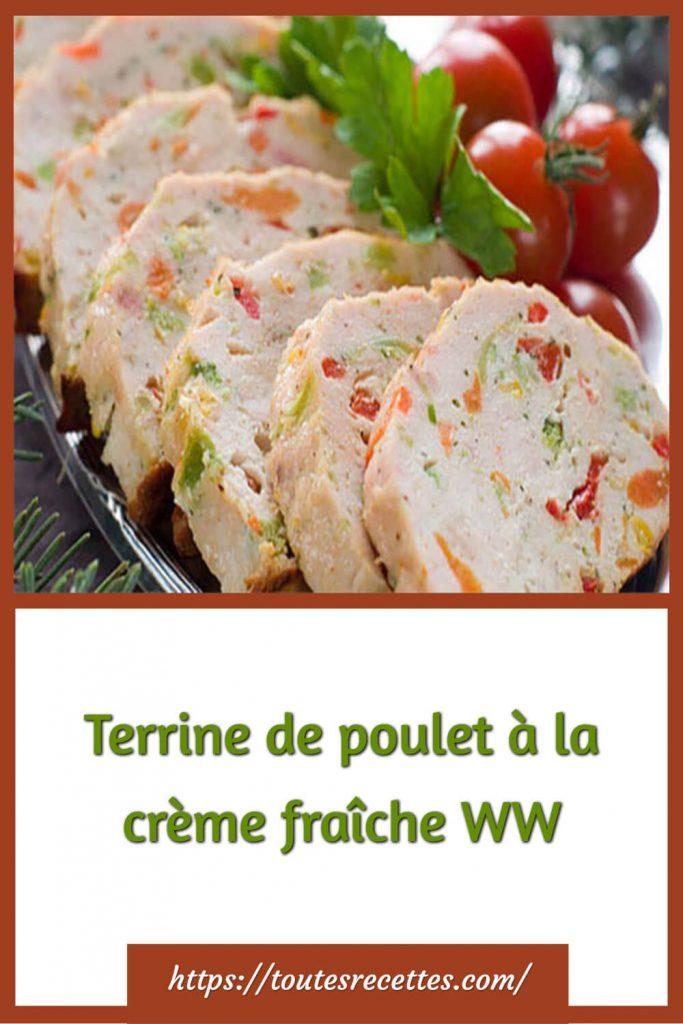 Comment préparer la Terrine de poulet à la crème fraîche WW