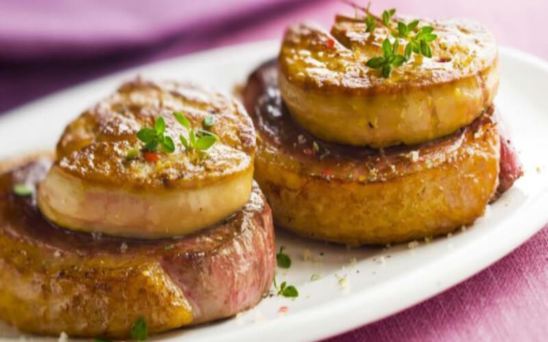 Tournedos au foie gras à la poêle