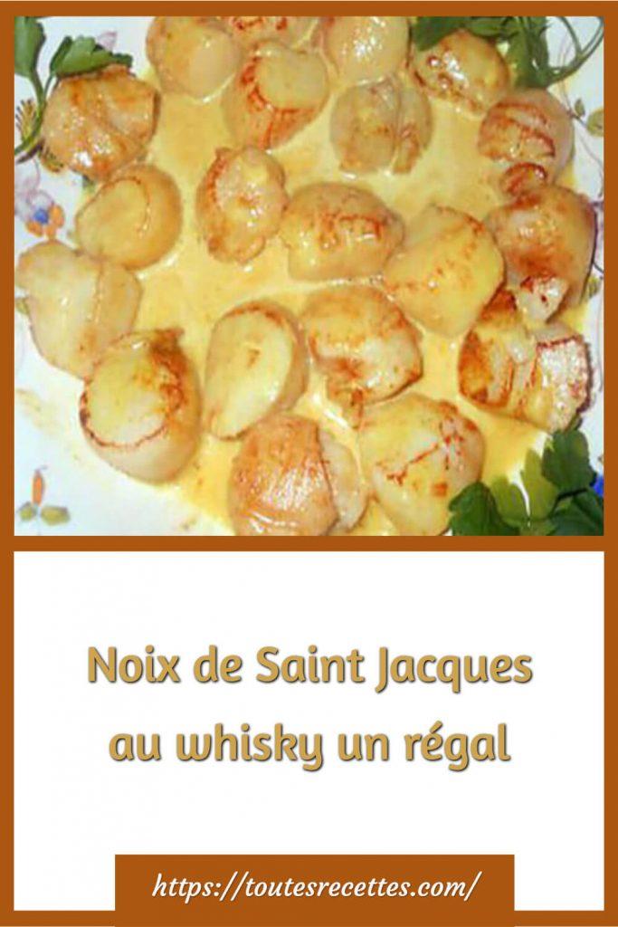 Comment préparer des Noix de Saint Jacques au whisky